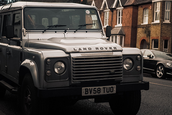 Parked Land Rover vehicle