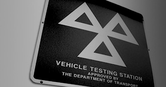MOT Tests sign in black and white