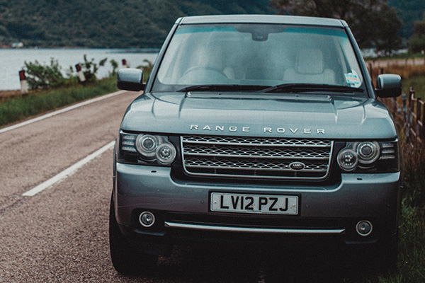 Range Rover vehicle on the road