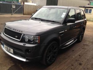 Grey Land Rover ready for collection