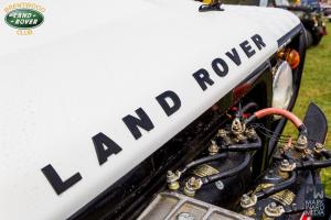 Land rover logo on a white car